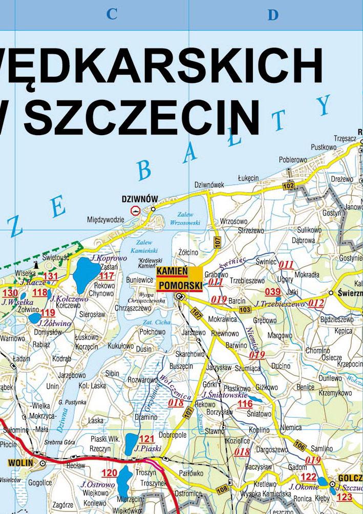 Mapa Wod Okreg Polskiego Zwiazku Wedkarskiego W Szczecinie