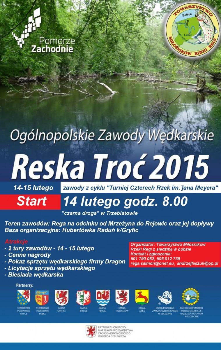 Ogólnopolskie Zawody Wędkarskie RESKA TROĆ 2015